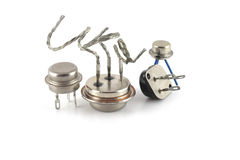 Old transistors Royalty Free Stock Image