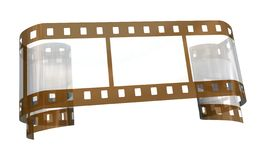 Old transparent film. On the white background Royalty Free Stock Photo