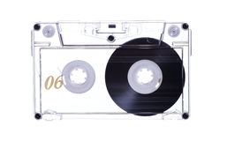 Old transparent tape Stock Image