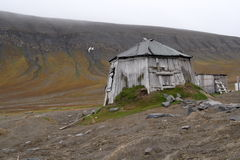 Old Trappers Hut. Torellnesset, Svalbard stock image