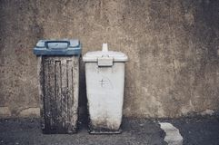 Old trash bins in Tokyo royalty free stock photos