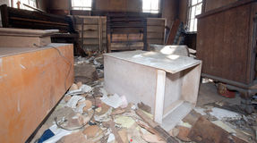 Old Trashed Room. Trashed room in an old abandoned house Royalty Free Stock Photography