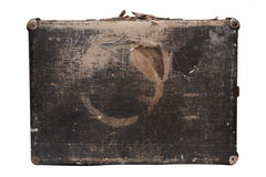 Old travel bag. Old travel vintage bag from wood Royalty Free Stock Photos