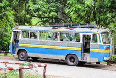 Old travel bus. Is park in the national park Royalty Free Stock Photography