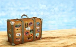 Old travel suitcase Stock Photography
