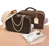 Old travel suitcases Royalty Free Stock Photography