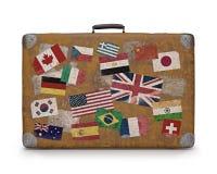 Old Traveled Bag Royalty Free Stock Image