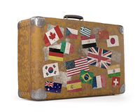 Old Traveled Bag Royalty Free Stock Images