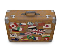 Old Traveled Bag Royalty Free Stock Photography