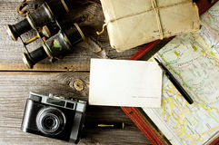Old traveling equipment Royalty Free Stock Photography