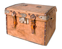 Old travelling trunk Stock Photography