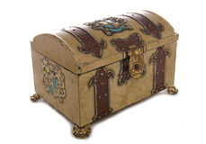 Old treasure chest. Studio cutout Stock Photography