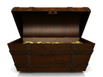 Old treasure chest. Royalty Free Stock Photos