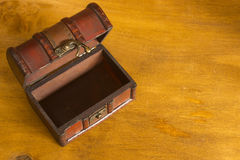 Old treasure chest or box Royalty Free Stock Photos