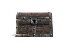 Old treasure chest, 3D rendering Royalty Free Stock Photo