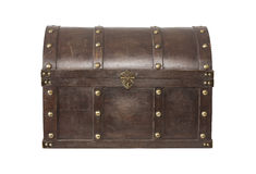 Old treasure chest isolated Royalty Free Stock Photography