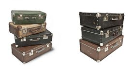 Antique treasure chests. Royalty Free Stock Photography