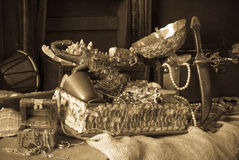 Old treasure chests Royalty Free Stock Image