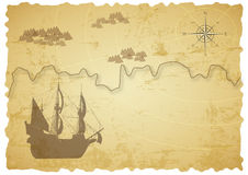 Old treasure map Royalty Free Stock Photos