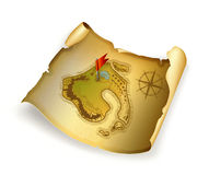 Old treasure map Stock Photos