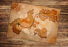 Old treasure map. Isolated on a white background Royalty Free Stock Photography