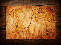 Old treasure map Royalty Free Stock Photography