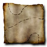 Old treasure map Stock Photo