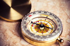 Old treasure map. With compass Stock Photography