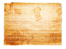 Old treasure map. With compass Stock Photos