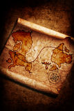 Old treasure map on grunge. Background Stock Images