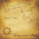 Old treasure map Royalty Free Stock Photo