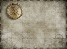 Treasure map background 3d illustration. Old treasure map illustration background Royalty Free Stock Photos