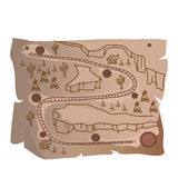 Old treasure map of Indian railway Royalty Free Stock Photo