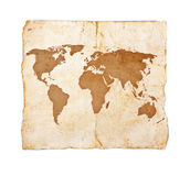 Old treasure map. On white background Stock Photos