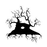 Old tree bare, silhouette for your design Royalty Free Stock Photography