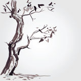 Old tree in Chinese style. Stock Photos