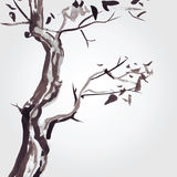 Old tree in Chinese style. Stock Photography
