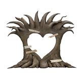 Old tree heart Stock Photography