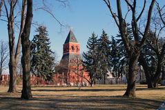 Old trees in Moscow Kremlin. UNESCO World Heritage Site. Stock Images
