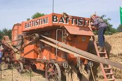 Old treshing machine Stock Images