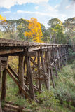 Old Trestle Bridge in Koetong Stock Images