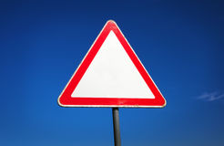 Old triangle traffic sign Royalty Free Stock Photos