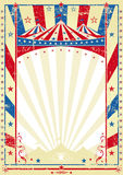Old tricolor poster big top Stock Photos