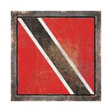 Old trinidad and Tobago flag Royalty Free Stock Photography