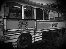 Nostalgic Old Trolley Car. Abstract impressionist style picture of a tourist trolley bus Royalty Free Stock Photo