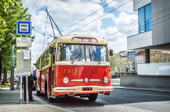 Old trolley car Stock Images