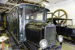 Old  trolley in museum Stock Photos