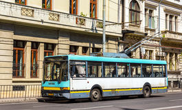 Old trolleybus in Bucharest Stock Photos