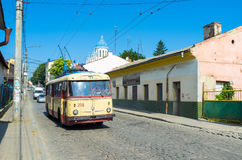 The old trolleybus Royalty Free Stock Images
