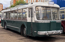 Old trolleybus 3 Stock Photos